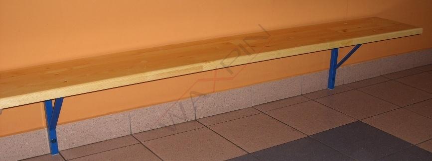 Lawka szatniowa przykrecana do sciany 2,00 x 0,30 m :: pomoc.
