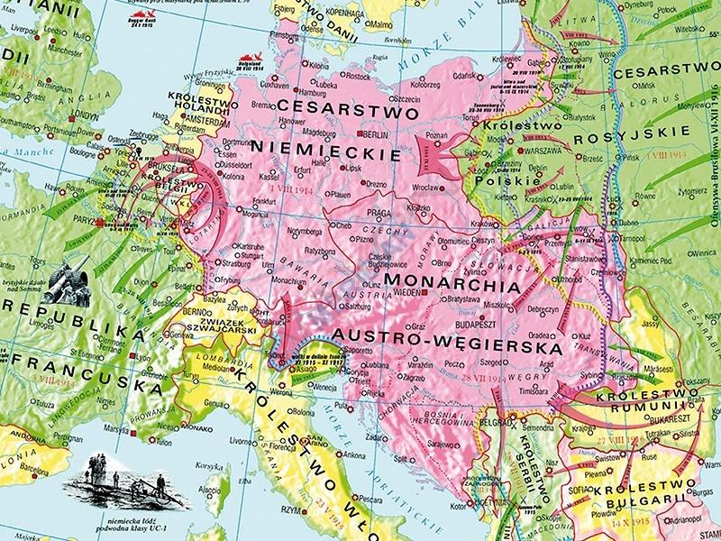 mapa i wojna Światowa 191416 pomocedydaktyczneeu