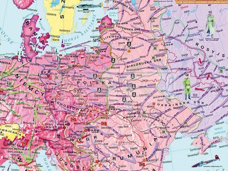 Mapa Duo Ii Wojna Swiatowa 1939 41 1942 45 Pomocedydaktyczne Eu