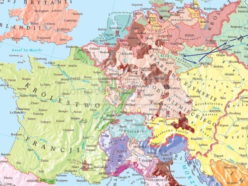 Mapa Duo Rzeczpospolita W Xvii I Xviii W Europa Do Polowy Xviii