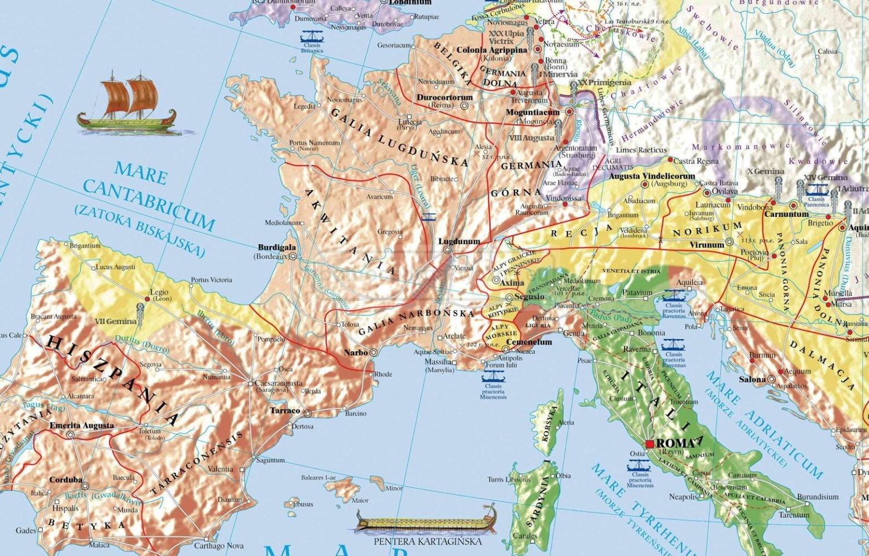 Mapa Duo Starożytny Rzym Państwo I Kultura Pomocedydaktyczne Eu