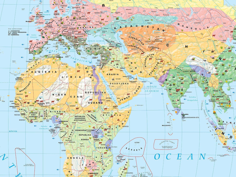 Mapa Gospodarcza Swiata Rolnictwo I Uzytkowanie Gleby 2014