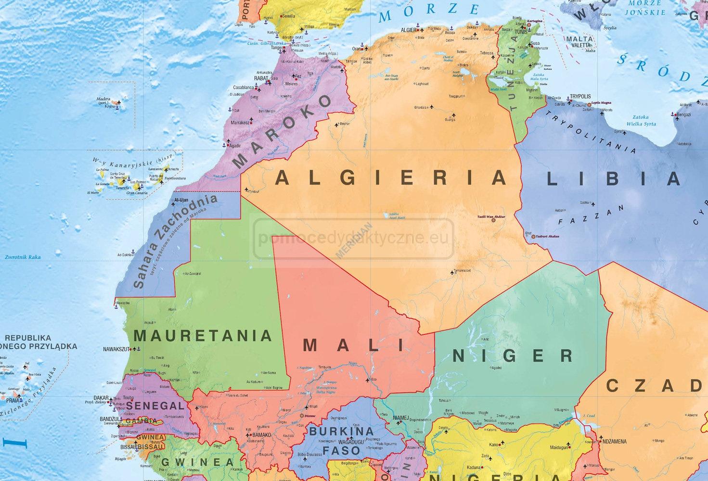 Mapa Polityczna Afryki 2019 Pomocedydaktyczne Eu